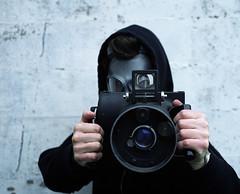 Sean McFadden, Mr. Fallout (Zeb Andrews) Tags: people portraits portland coworkers pdx gasmask fallout bombsaway pentax6x7 bluemooncamera zebandrews aerialcameras zebandrewsphotography