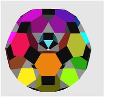 Rotunda Drilled Truncated icosidodecahedron -Antiview 5 (Origami Tatsujin 折り紙) Tags: art colors paperart origami geometry hexagon multicolored papiroflexia pentagon papercraft polyhedra modularorigami geometricbeauty geometricart itsmulticolored mathworld colorfulart modularorigamiplanning polyhedramodeling geomtericbeauty rotundadrilledtruncatedicosidodecahedron