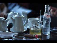 happy saturday afternoon (Kayo Matsumoto) Tags: blue summer urban ice coffee sunglasses japan tokyo yummy cafe nikon friend shinjuku moody afternoon drink dream cigar whisky ambience rhythm d90 50mm18f