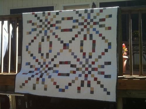 Grandpa's Shirts Memorial quilt