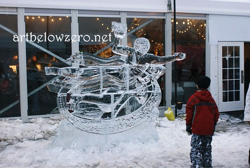 Prometheus ice sculpture