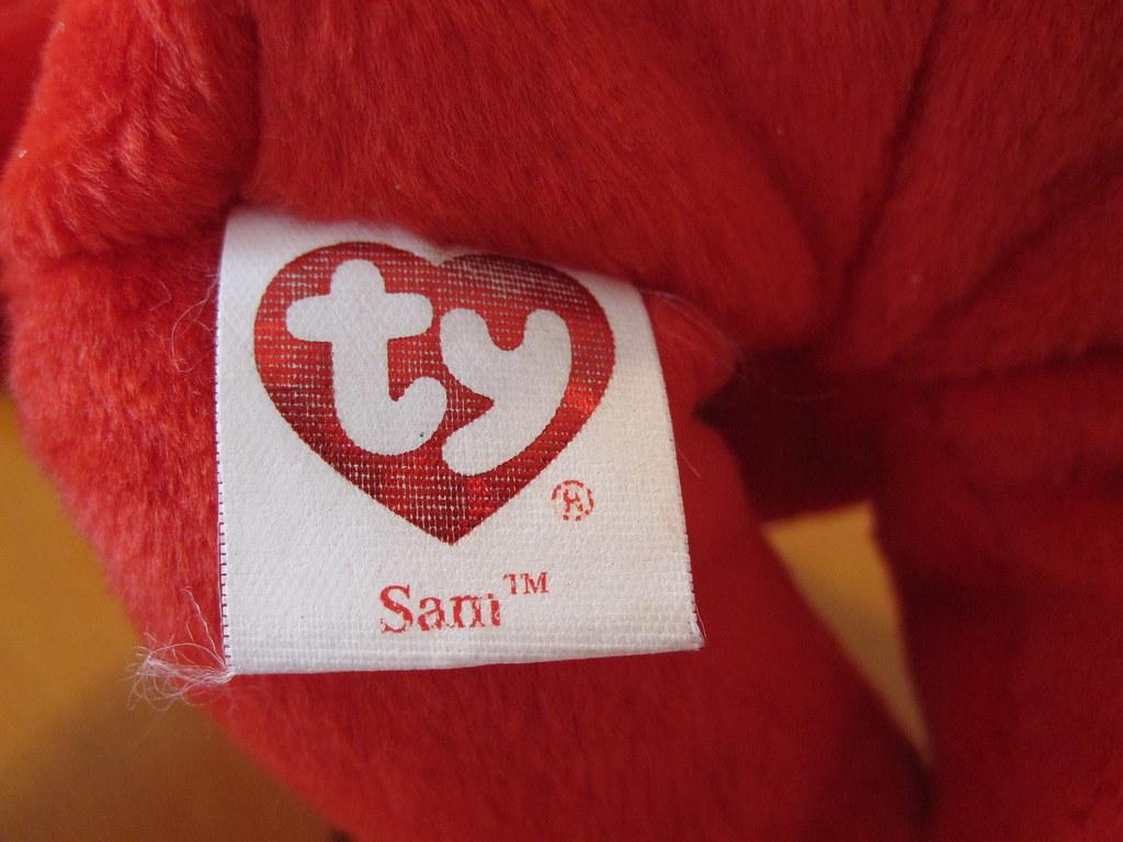 Ty Sam the Red Bear Beanie Baby Tush Tag (jessicagreen0202) Tags  bear baby 6fb6e7f3582b