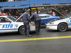 NYPD car needs a Jump (buff_wannabe) Tags: nyc dead cops battery police nypd cables repair jumper
