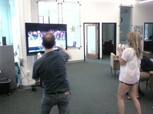 Two boxers at Wii Mondays