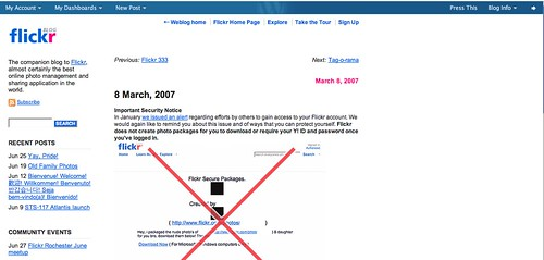 Flickr blog powered by WordPress.com