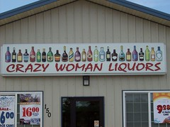 Crazy Woman Liquors (Fran 53) Tags: summer wheel buffalo 4th july carousel ferris wyoming 2007
