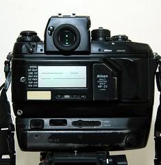 El Monstro - Nikon F4 (cnmark) Tags: camera 35mm lens back nikon power sigma pack f4 autofocus multifunction allrightsreserved mf23 elmonstro mb23