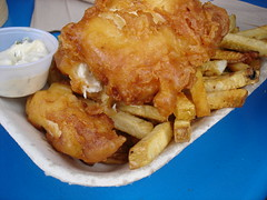 halibut fish & chips, Go Fish, Granville Island