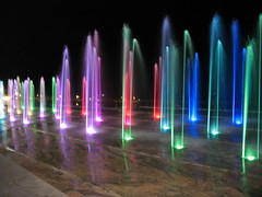 Giochi d'acqua - Coloured fountain playing (klausthebest) Tags: italy water rainbow italia acqua chiavari arcobaleno italians 10faves mywinners platinumphoto anawesomeshot holidayvacanzeurlaub thebestpool