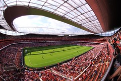 emirates stadium - home of arsenal fc (sugimoto) Tags: london football soccer fisheye arsenal emiratesstadium footballstadium soccerstadium emiratescup