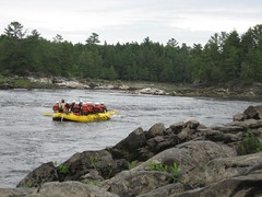 Heading down the river (S and T) Tags: rafting ottawariver whitewaterrafting riverrun