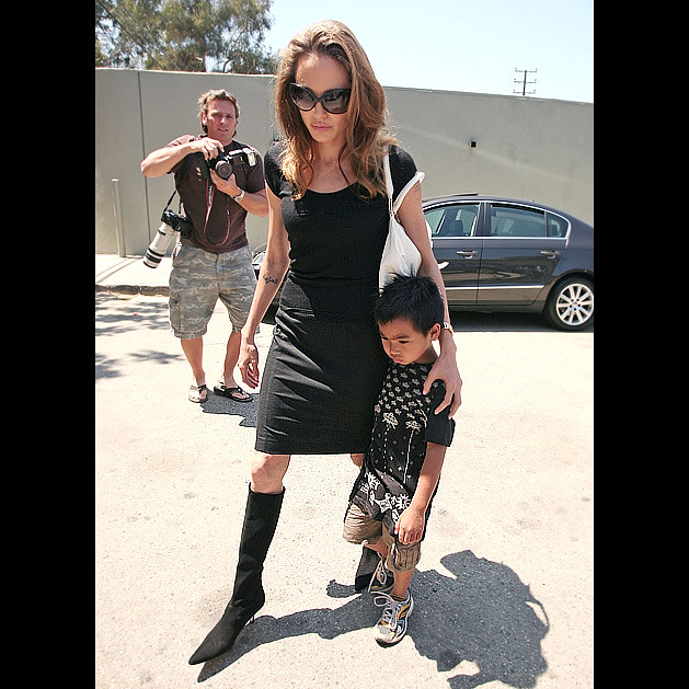 grumpy Maddox, who celebrated his 6th birthday on Sunday, joined his mother, Angelina Jolie, as she went to finish voiceover work for Beowulf by HOLLYWOOD KIDS