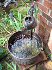 Nina's Tea Kettle Fountain (Pandorea...) Tags: art fountain garden tea folk outsider kettle wash copper pan avantgarden invited