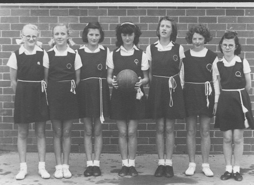 Unidentified School: girls' basketball team