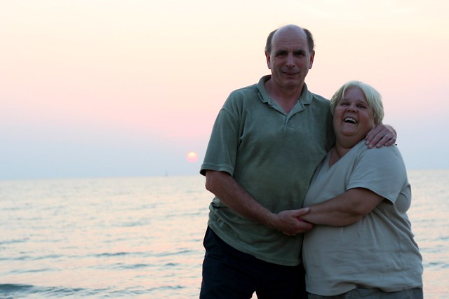 Mum and Dad at Sunset