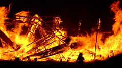 Temple of Forgiveness remains (In dust we trust) Tags: city black rock night temple fire lowlight playa burningman finepix fujifilm davidbest 2007 forgiveness s6000fd