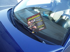 windshield flyer