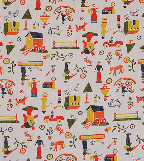 vintage folksy fabric for swap