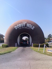 Donut Hole, LaPuente CA (worldslargestthings) Tags: california losangeles quality kitsch drivein donut bigthings lapuente worldslargest donuthole bigdonut