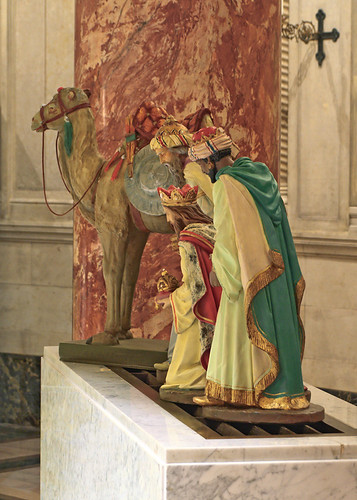 Cathedral Basilica of Saint Louis, in Saint Louis, Missouri, USA - Christmas decorations, the three magi