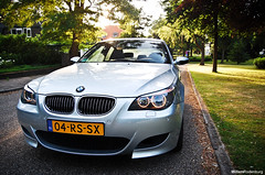 BMW M5 (Willem Rodenburg) Tags: sunset sun 3 holland tree netherlands dutch photoshop silver grey nikon 5 nederland ede m bleu bmw series 1855 m5 willem gemeentehuis lightroom 5series gelderland the e60 d40 rodenburg mmotorsport
