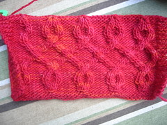 Celtic Critter Cardigan cuff reject
