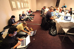 "Exclusive look into Facebook's ""war room."" (Robert Scoble) Tags: warroom engineers facebook messaging"