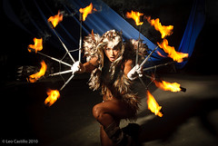 Fire Bird (Leo Castillo) Tags: beauty fashion set fire dance glamour nikon photographer philippines bellydancer dancer location flame burn attractive manila d200 performer firedancer alienbees photoworks rachellobangco leocastillo wwwleocastillocom productiondesignbyrenelabrador makeupbybambidelacruz firebellydancer