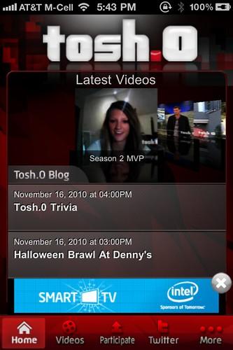 Tosh.0 iPhone App
