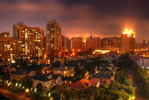 CHINA - Shanghai - Gubei HDR Night long exposure