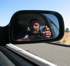 Closer than I appear (RCoshow) Tags: selfportrait me car mirror sideview winters i505 canonpowershots3is coshow