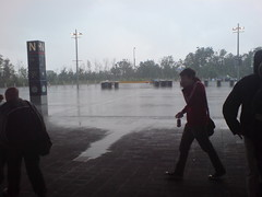 Rain before the concert