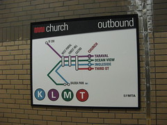 New Muni station-direction specific system diagram (brunoboris) Tags: sanfrancisco map plan muni churchstreet schematic munimetro outbound linemap churchstation sfmta