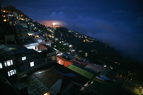 Darjeeling at night!