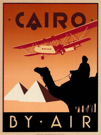 Cairo by Air vintage travel poster