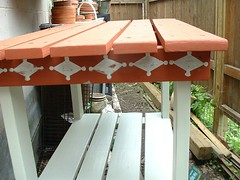 Potting Table Painted Detail (Henryr10) Tags: backyard pottingtable