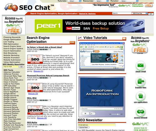 SEO Chat Design