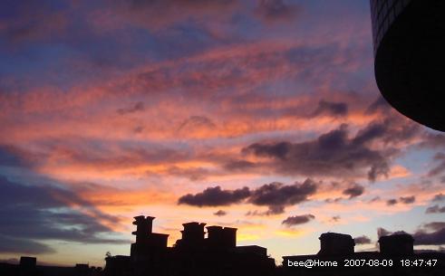 07.08.09 在家裡拍的夕陽(1)
