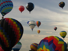 Hot Air Balloon Festival (ajagendorf25) Tags: new blue red sky sun hot yellow festival sunrise canon newjersey air balloon jersey target rise s3 hotairballoons att