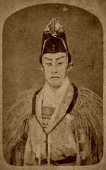 Kabuki  actor (ookami_dou) Tags: japan vintage theater kabuki  actor cdv