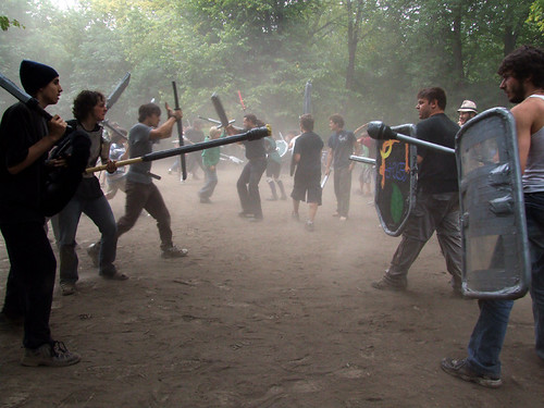 Joining the medieval battle on Mount Royal - Spacing Montreal