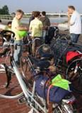 Koffie en fietsen voor de tocht