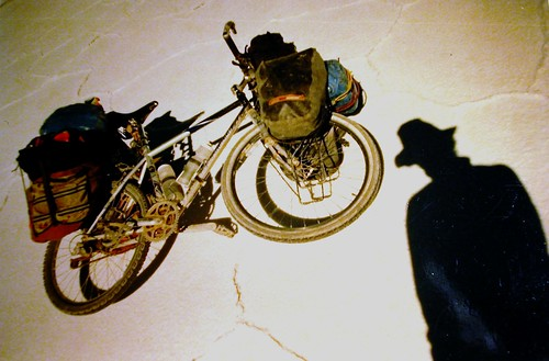 shadow and bike