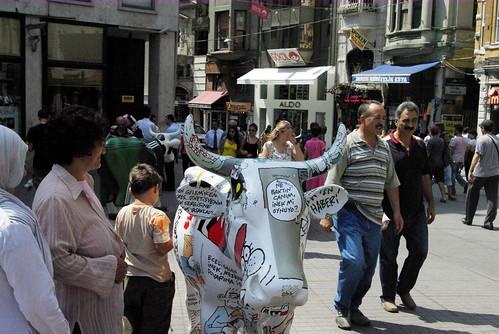 cowparade event in Galatasaray, Beyoglu Istanbul, Pentax K10d
