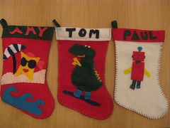 Our stockings made by Kelly