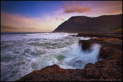 Oregon Coast Morning (Darren White Photography) Tags: sky nature clouds oregon sunrise landscape coast scenic pacificocean pacificnorthwest oregoncoast capeperpetua darrenwhite darrenwhitephotography