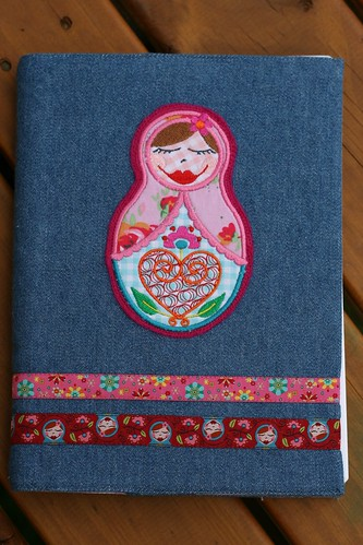 nesting doll journal front