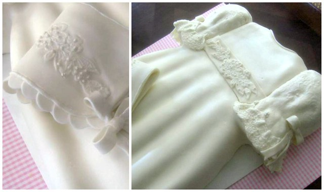 christening cake - dress baby girl