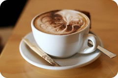 Cappuccino (Jaime Carter) Tags: newzealand food white cup coffee dessert lunch restaurant milk cafe chocolate gothenburg hamilton icecream waikato strong espresso cappuccino honeycomb hokeypokey froth fondant hoodstreet jaimewalsh jaimecarter