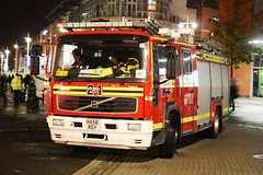 Hampshire Fire & Rescue Volvo Pumper HX56RGY. (EYBusman) Tags: city rescue truck fire one volvo centre engine hampshire portsmouth service emergency tender pumper eybusman hx56rgy
